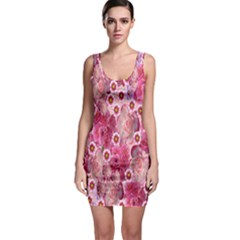 Roses Flowers Rose Blooms Nature Sleeveless Bodycon Dress