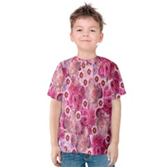 Roses Flowers Rose Blooms Nature Kids  Cotton Tee