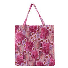Roses Flowers Rose Blooms Nature Grocery Tote Bag
