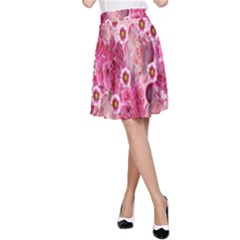 Roses Flowers Rose Blooms Nature A-Line Skirt