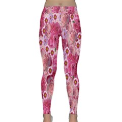 Roses Flowers Rose Blooms Nature Classic Yoga Leggings