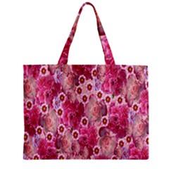 Roses Flowers Rose Blooms Nature Zipper Mini Tote Bag