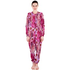 Roses Flowers Rose Blooms Nature Onepiece Jumpsuit (ladies)