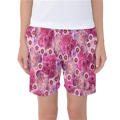 Roses Flowers Rose Blooms Nature Women s Basketball Shorts