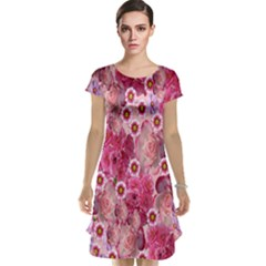 Roses Flowers Rose Blooms Nature Cap Sleeve Nightdress