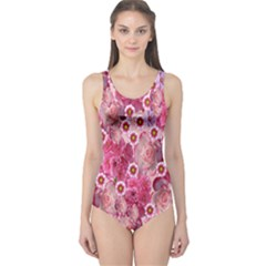 Roses Flowers Rose Blooms Nature One Piece Swimsuit