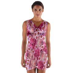 Roses Flowers Rose Blooms Nature Wrap Front Bodycon Dress