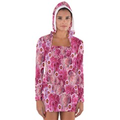 Roses Flowers Rose Blooms Nature Women s Long Sleeve Hooded T-shirt