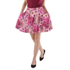 Roses Flowers Rose Blooms Nature A-Line Pocket Skirt