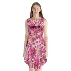 Roses Flowers Rose Blooms Nature Sleeveless Chiffon Dress