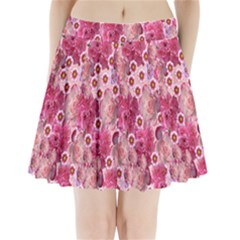 Roses Flowers Rose Blooms Nature Pleated Mini Skirt