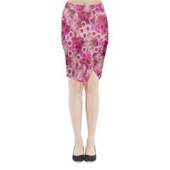 Roses Flowers Rose Blooms Nature Midi Wrap Pencil Skirt