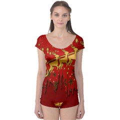 Santa Christmas Claus Winter Boyleg Leotard