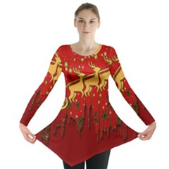 Santa Christmas Claus Winter Long Sleeve Tunic