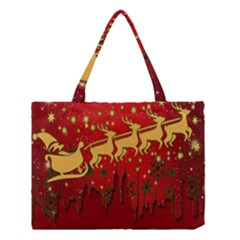 Santa Christmas Claus Winter Medium Tote Bag