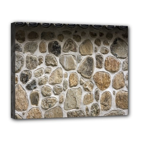 Roof Tile Damme Wall Stone Canvas 14  x 11