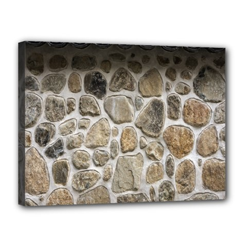 Roof Tile Damme Wall Stone Canvas 16  X 12