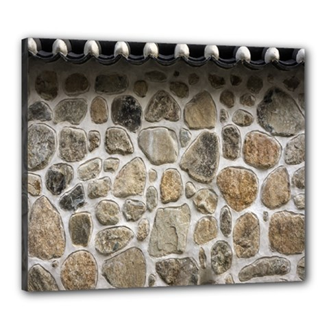 Roof Tile Damme Wall Stone Canvas 24  x 20