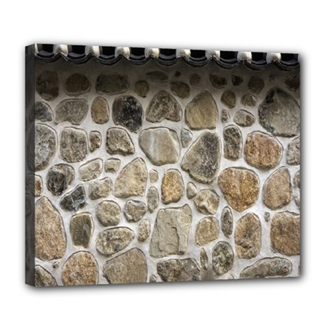 Roof Tile Damme Wall Stone Deluxe Canvas 24  x 20
