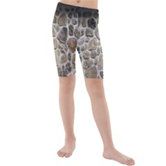 Roof Tile Damme Wall Stone Kids  Mid Length Swim Shorts