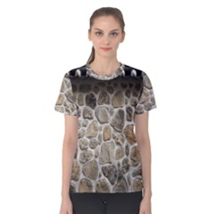 Roof Tile Damme Wall Stone Women s Cotton Tee