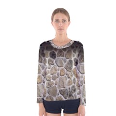 Roof Tile Damme Wall Stone Women s Long Sleeve Tee