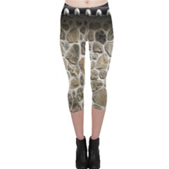 Roof Tile Damme Wall Stone Capri Leggings