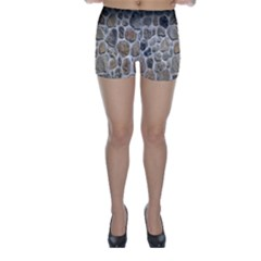 Roof Tile Damme Wall Stone Skinny Shorts
