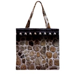 Roof Tile Damme Wall Stone Zipper Grocery Tote Bag