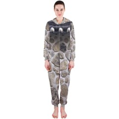 Roof Tile Damme Wall Stone Hooded Jumpsuit (Ladies)