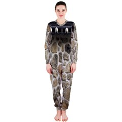 Roof Tile Damme Wall Stone Onepiece Jumpsuit (ladies)