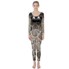 Roof Tile Damme Wall Stone Long Sleeve Catsuit