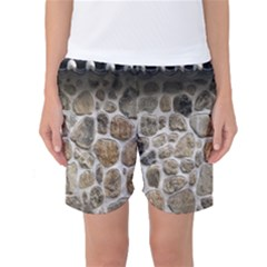 Roof Tile Damme Wall Stone Women s Basketball Shorts