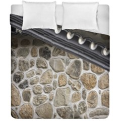 Roof Tile Damme Wall Stone Duvet Cover Double Side (california King Size)