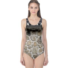 Roof Tile Damme Wall Stone One Piece Swimsuit