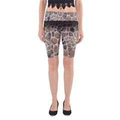 Roof Tile Damme Wall Stone Yoga Cropped Leggings