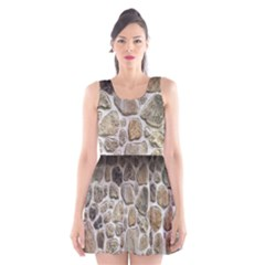 Roof Tile Damme Wall Stone Scoop Neck Skater Dress