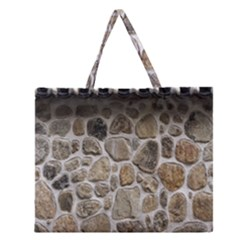 Roof Tile Damme Wall Stone Zipper Large Tote Bag