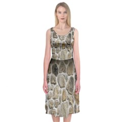 Roof Tile Damme Wall Stone Midi Sleeveless Dress