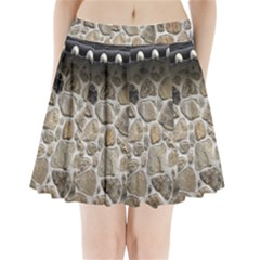 Roof Tile Damme Wall Stone Pleated Mini Skirt