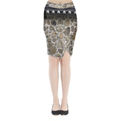Roof Tile Damme Wall Stone Midi Wrap Pencil Skirt