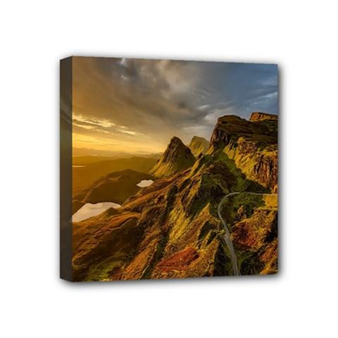 Scotland Landscape Scenic Mountains Mini Canvas 4  x 4