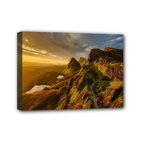 Scotland Landscape Scenic Mountains Mini Canvas 7  x 5