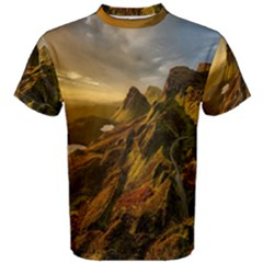Scotland Landscape Scenic Mountains Men s Cotton Tee