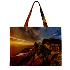 Scotland Landscape Scenic Mountains Zipper Mini Tote Bag