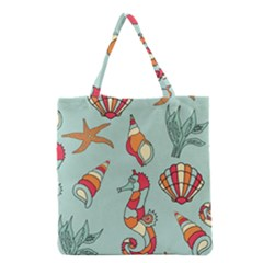 Seahorse Seashell Starfish Shell Grocery Tote Bag