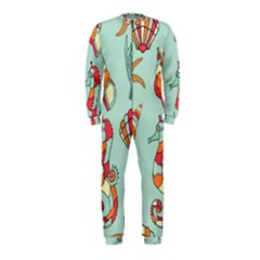 Seahorse Seashell Starfish Shell OnePiece Jumpsuit (Kids)