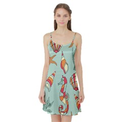Seahorse Seashell Starfish Shell Satin Night Slip