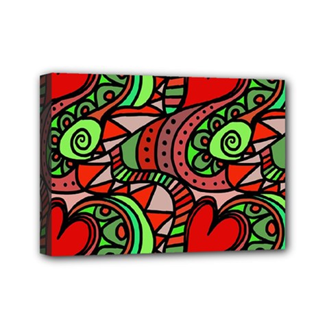 Seamless Tile Background Abstract Mini Canvas 7  x 5
