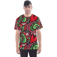 Seamless Tile Background Abstract Men s Sport Mesh Tee